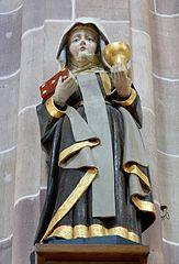 saint Benoît, sainte Walburge, sainte Agnès, sainte Barbe à Walbourg
