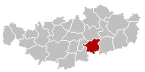 Walhain - Image: Walhain Brabant Wallon Belgium Map