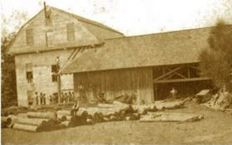 War Eagle Mill - 1860 photo of the second mill, with sawmill addition
