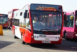 Wardle Transport - Optare Versa in September 2009