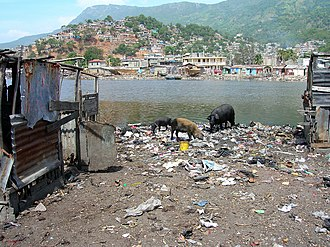 Open defecation - Indiscriminate waste dumping and open defecation, Shadda, Cap-Haitien, Haiti