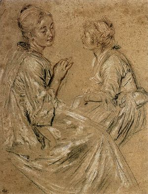 Trois crayons - Image: Watteau trois crayons