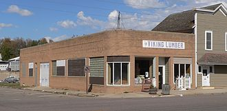 Wausa, Nebraska - Viking Lumber in downtown Wausa