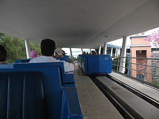 Tomorrowland Transit Authority PeopleMover Transit system at Walt Disney World