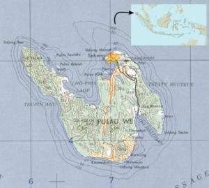 Weh Island - Map of Weh Island