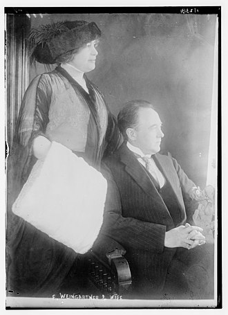 Felix Weingartner - Weingartner and wife c. 1915