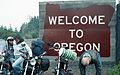 Welcome to Oregon sign, 1987.jpg