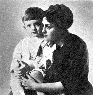 Orson Welles - Orson Welles with his mother, Beatrice Ives Welles