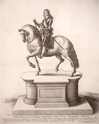 As I was going by Charing Cross - Wenceslas Hollar's engraving of the statue