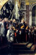 Detalle de «La proclamación del Imperio alemán», de Anton von Werner