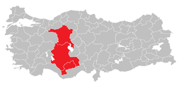 Location of West Anatolia Region