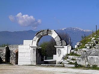 Philippi - West parodos of the theatre