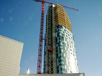 West Tower - Image: West tower construction