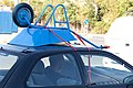 Wheelbarrow on car roof without roof rack, Sofia 2012 PD 2.jpg