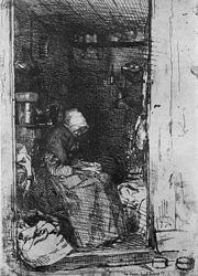 La Vieille aux loques (1858), etching