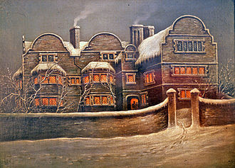 Caldmore - White Hart, Caldmore Oil painting by an unknown artist, The New Art Gallery Walsall permanent collection, 1976.088.P