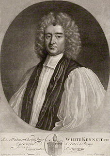 White Kennett English bishop and antiquarian