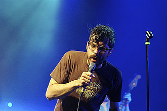 Yoni Wolf - Yoni Wolf performing with Why? in Brussels in 2010