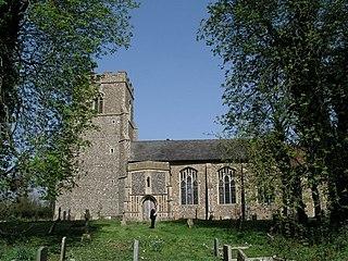 Wickham Skeith village in the United Kingdom