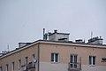 Wieżowy Punkt Obserwacyjny na kamienicy przy ul. Grójeckiej róg Bitwy Warszawskiej 1920 r.jpg