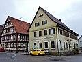 """Wiernsheim mit Blick zum Gasthaus und Metzgerei """"Zum Waldhorn"""" - panoramio.jpg"""