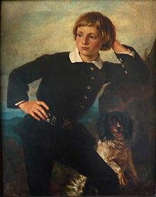 Wilhelm Sohn Als Junger Mann, Gemälde Von Karl Ferdinand Sohn, 1858,  Zuletzt Gezeigt In Der Schau Kinderbildnisse Aus Drei Jahrhunderten, 17.,  18. Und 19.