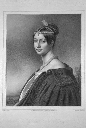Baroness Wilhelmine of Dörnberg - Image: Wilhelmine von Dörnberg Litho