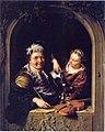 Willem van Mieris - Vioolspeler en schenkster in een vensteropening - Gal.-Nr. 1768 - Staatliche Kunstsammlungen Dresden.jpg
