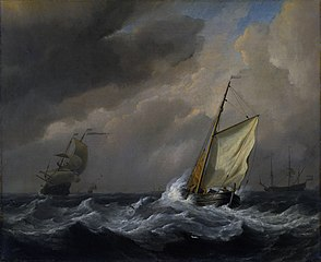 A Small Dutch Vessel close-hauled in a Strong Breeze