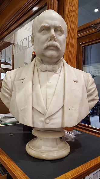 Franklin Simmons - Bust of William B. Wood. Located in the Reference Department of the Lewiston Public Library.
