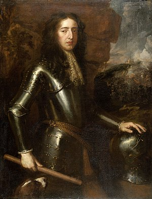 "Williamite War in Ireland -  William III (""William of Orange"")  King of England, Scotland and Ireland, Stadtholder of the Netherlands. Assumed James' thrones in the ""Glorious Revolution"" of 1689, with the support of the mainly Protestant ""Williamites"", but had to fight to subdue the Jacobite stronghold of Ireland in 1689–91."