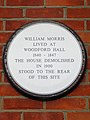 William Morris lived at Woodford Hall 1840-1847. The house demolished in 1900 stood to the rear of this site.jpg