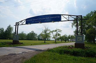Willow Run Airport - Van Buren Township Entrance