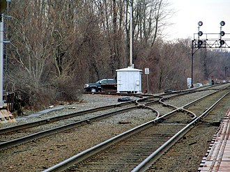 Lowell Line - Junction of the former Woburn Branch in Winchester