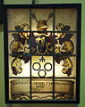 Window of Rutger Jacobsen, by Evert Duyckinck I, c. 1656, leaded stained glass, wood - Albany Institute of History and Art - DSC08004.JPG