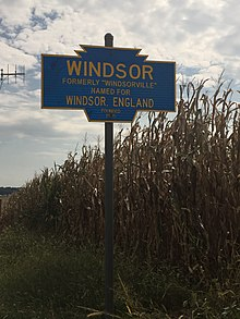Windsor town sign