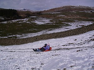 English: Winter Sports Moor Howe On Easter Mon...