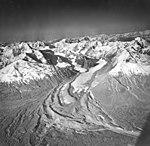 Wolverine Creek Glacier, terminus of valley glacier, partially turning into rock glacier, August 25, 1969 (GLACIERS 6940).jpg