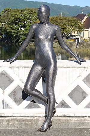 Zentai - A zentai suit; note that it covers the entire body – hands, feet and face
