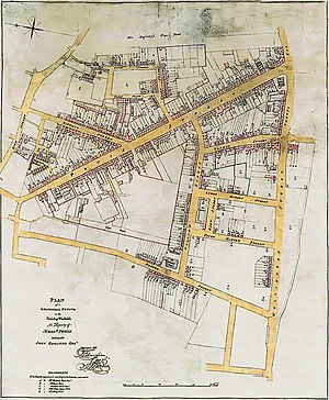 Powis Street - The Powis estate in 1825