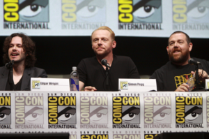 Three Flavours Cornetto trilogy - Edgar Wright, Simon Pegg, and Nick Frost at the 2013 San Diego Comic-Con International.