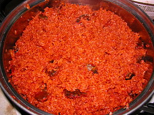 Gac - Glutinous rice made with extract of ripe fruits of Momordica cochinchinensis, Vietnamese style