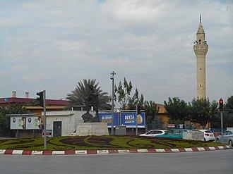 Yüreğir - Karacaoğlan statue at the major intersection
