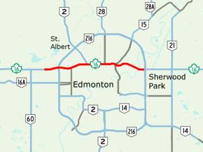 Map Of Yellowhead Highway Canada Yellowhead Trail   Wikipedia