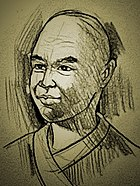 An artist's impression of Yi Jing 义净 (635~713), Tang dynasty Buddhist monk.