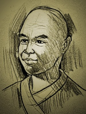 Tambralinga - An artist's impression of the Tang dynasty Buddhist monk Yijing (义净, 635~713)
