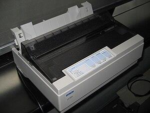 Seiko Epson - Image: Yosri Pencetak Bintik 9pin Epson 1