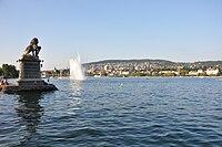 Zürichberg - Zürich Hafen Enge - Löwendenkmal 2010-08-21 18-56-00.JPG