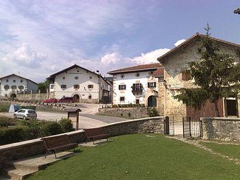 Houses in Ziaurritz, Odieta, Navarre, Basque C...