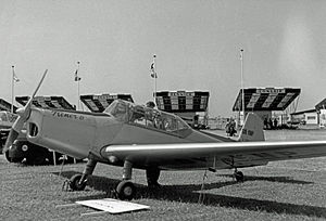 Zlín Z 26 - Zlin Z-226T Trener 6 exhibited at the 1957 Paris Air Show